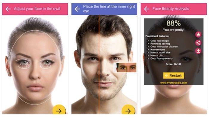 Aplicación que te dice que tipo de cara tienes