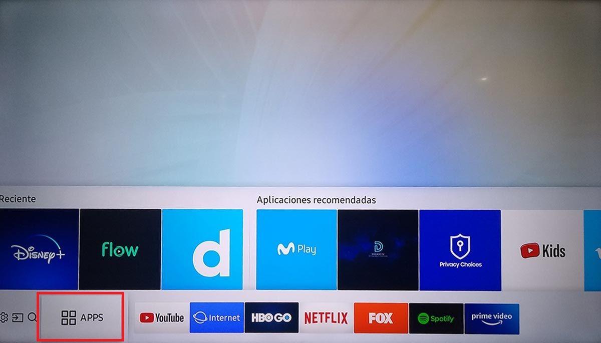 Aplicaciones Smart TV Samsung