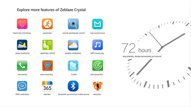 Aplicaciones Zeblaze Crystal
