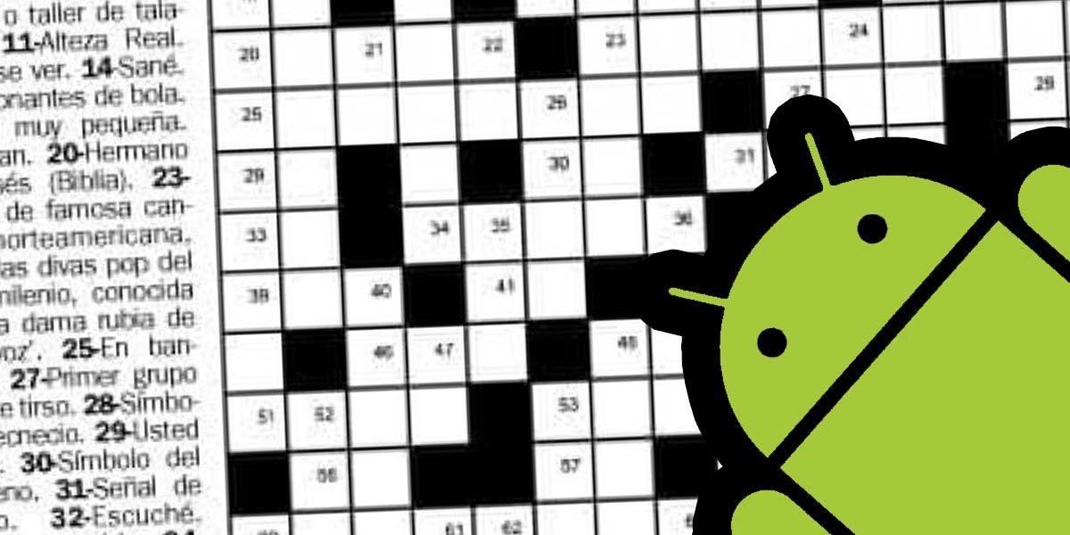 Aplicaciones de Android para jugar a hacer crucigramas gratis