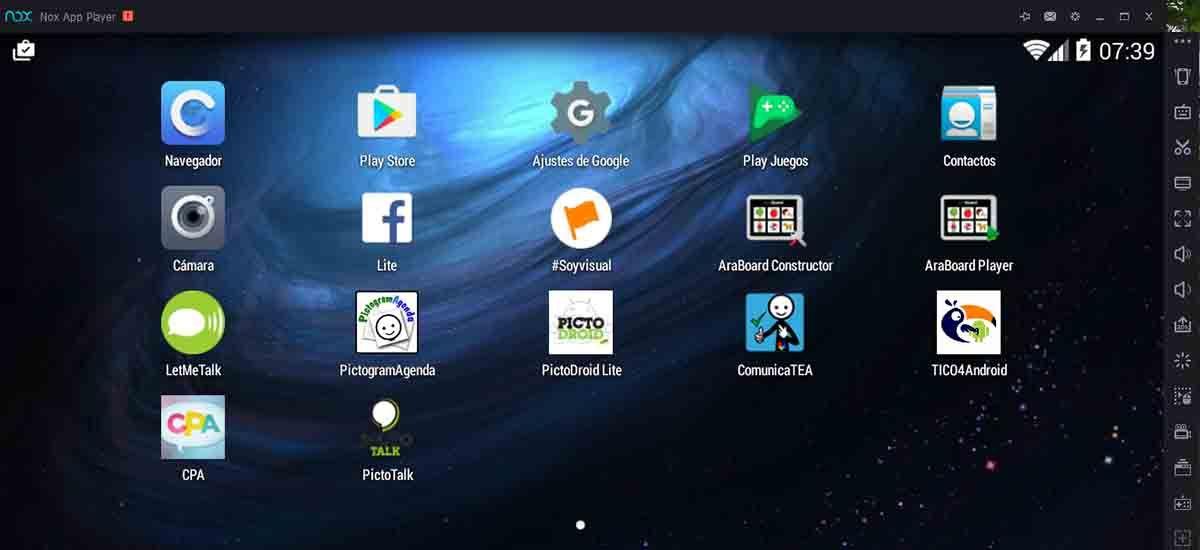 Aplicaciones disponibles en NoxPlayer