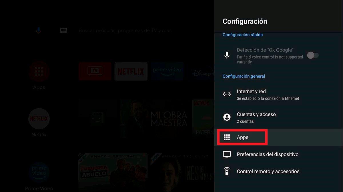 Aplicaciones en Android TV