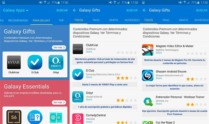 Aplicaciones gratis Galaxy S6