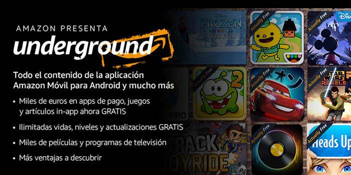 Aplicaciones gratis con Amazon Underground