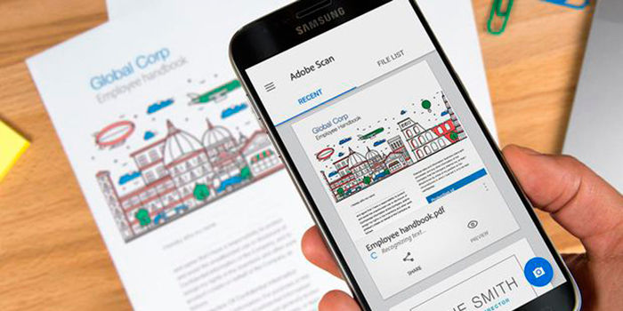 Aplicaciones para escanear documentos en Android