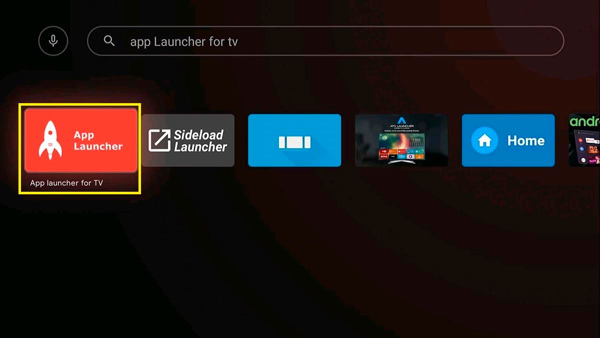 App Launcher Android TV