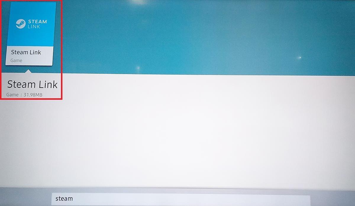 App Steam Link para Samsung Smart TV