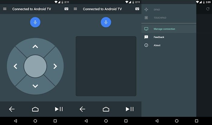 App para controlar android tv