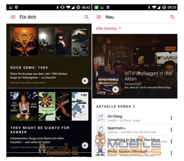 Apple Music para Android primeras impresiones