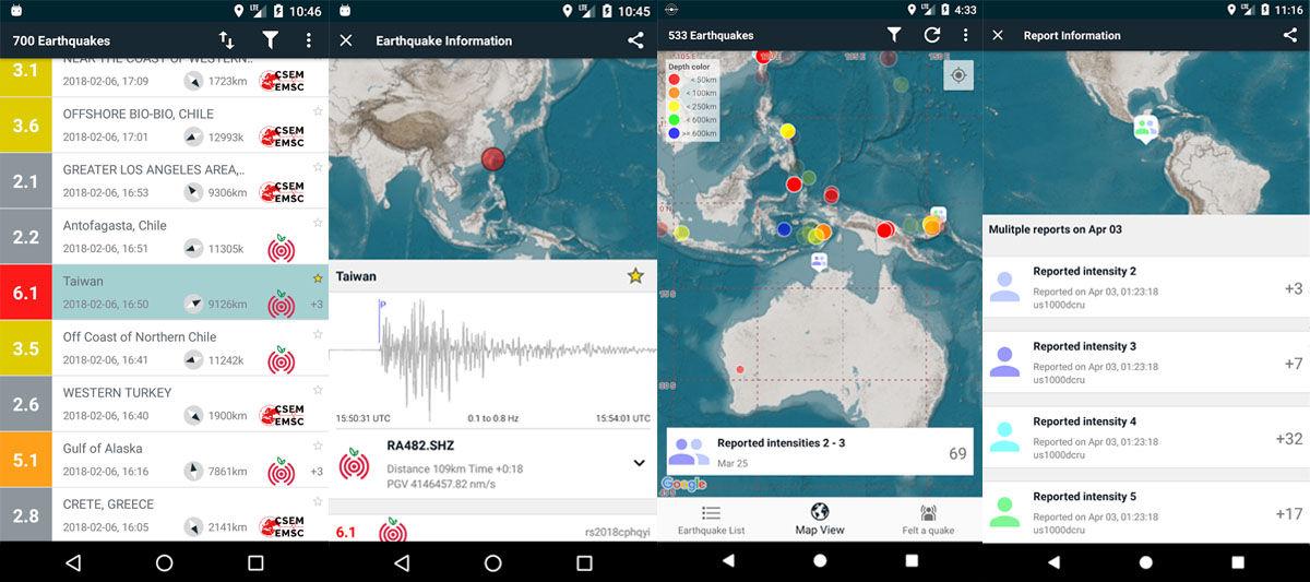 Apps Android de alarma o alerta de terremotos, temblores o seísmos