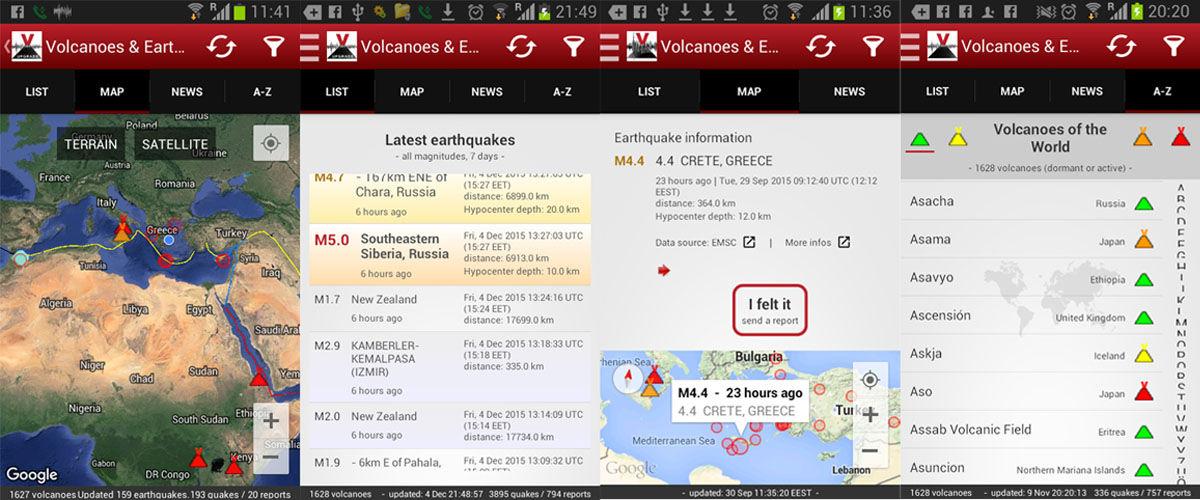 Apps de detección de actividad sísmica y temblores