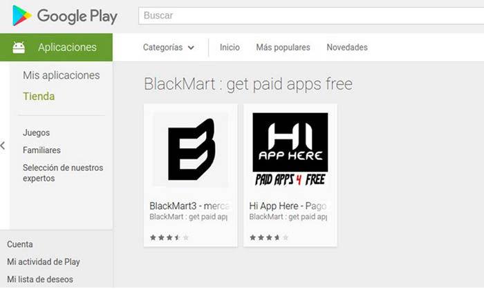Apps de pago gratis en Google Play