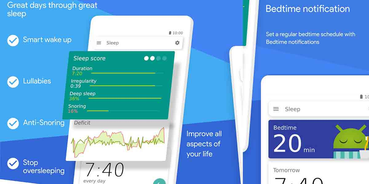 Apps para alarma en Android. Sleep As Android