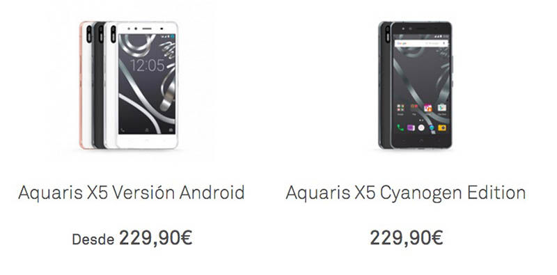 Aquaris X5 Cyanogen vs Android