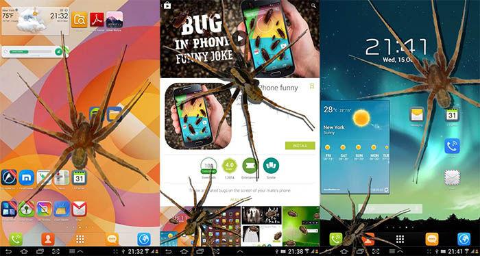 Arañas en el telefono