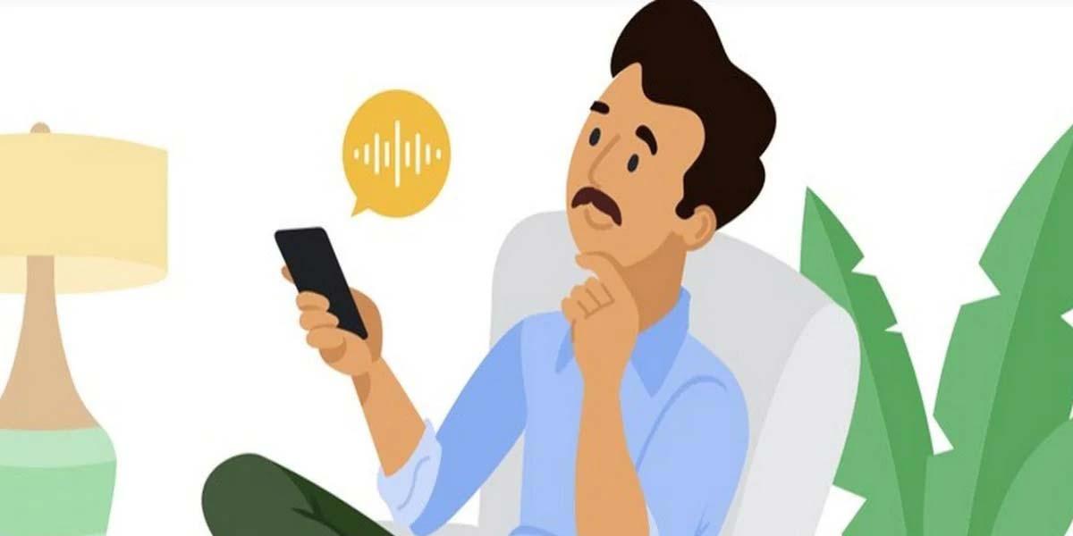 Asistente Google con voz