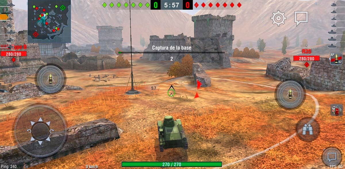 Atacar enemigos o capturar la base World of Tanks Blitz