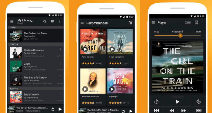 Audiolibros de Audible para Android