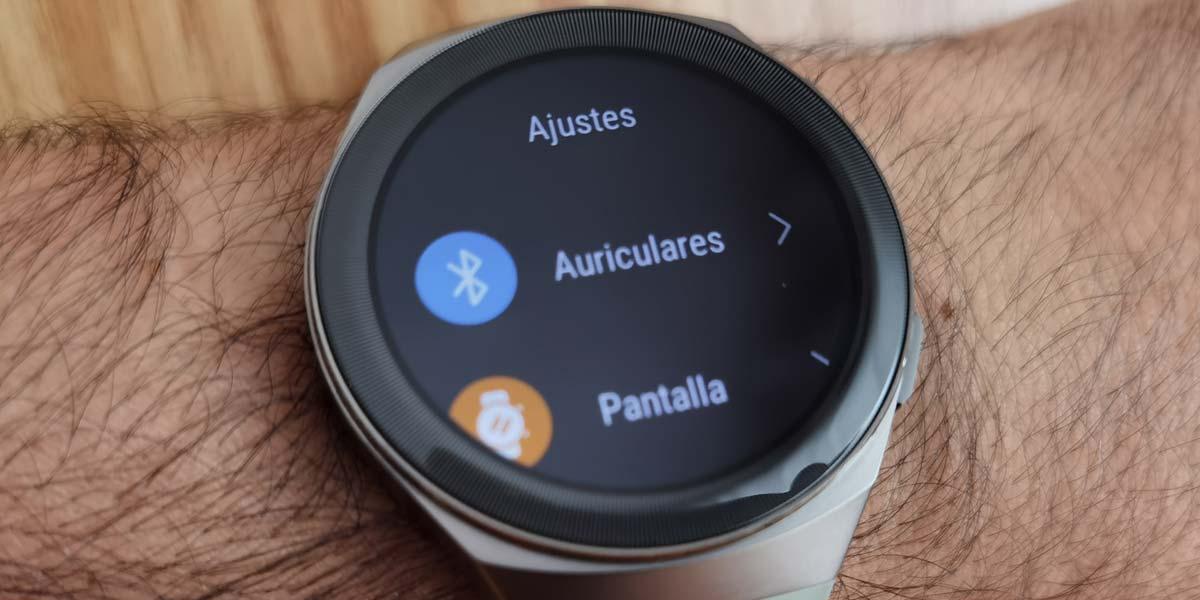 Añadir auriculares en un smartwatch Huawei