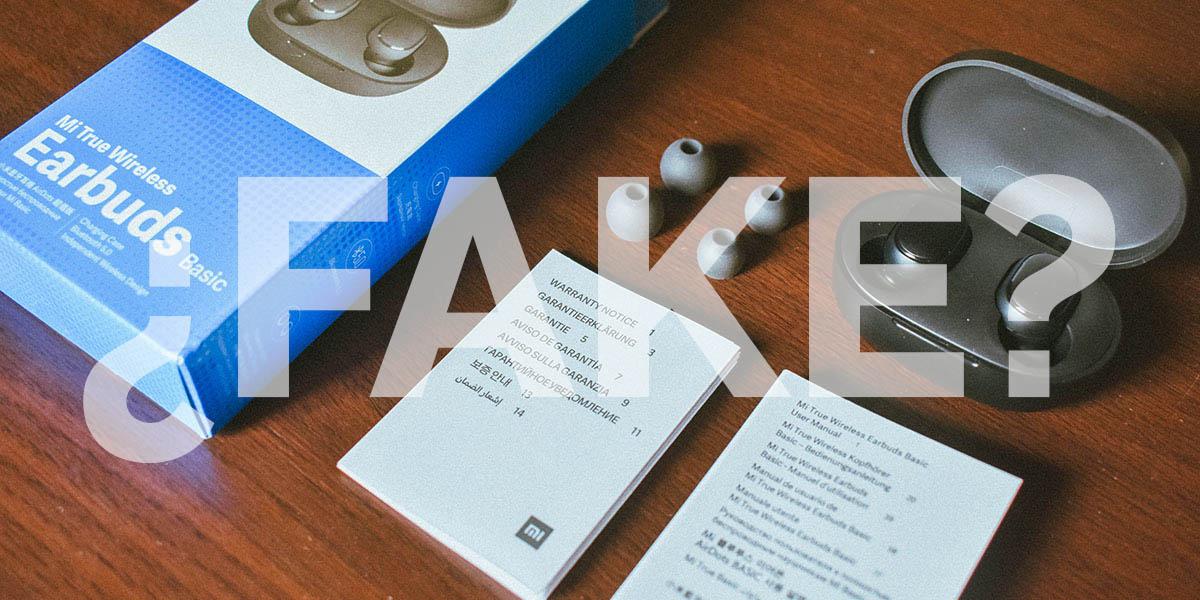 Auriculares xiaomi falsos identificar