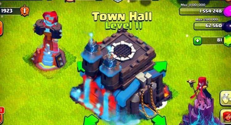 Ayuntamiento nivel 11 Clash of Clans