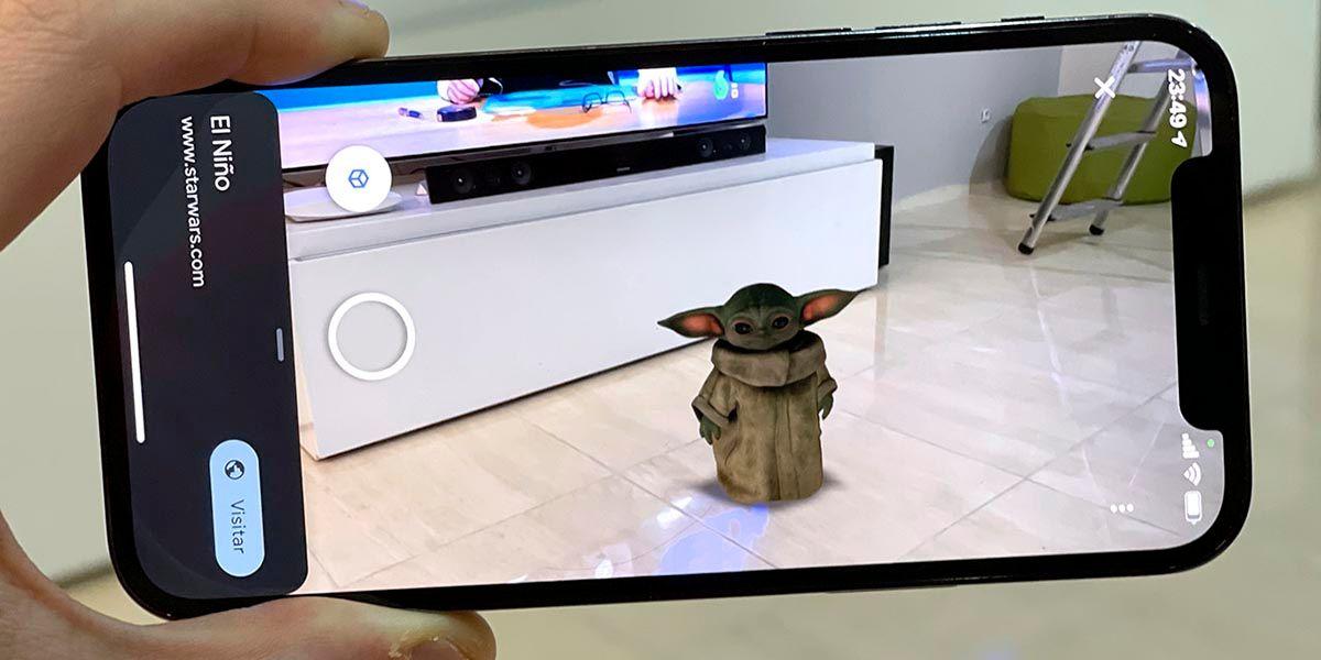 Baby Yoda Realidad aumentada de Google