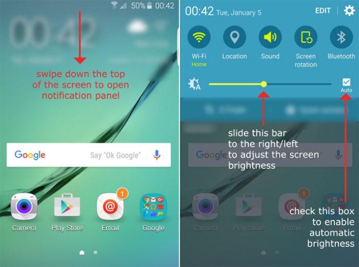 Bajar el brillo de la pantalla en Android