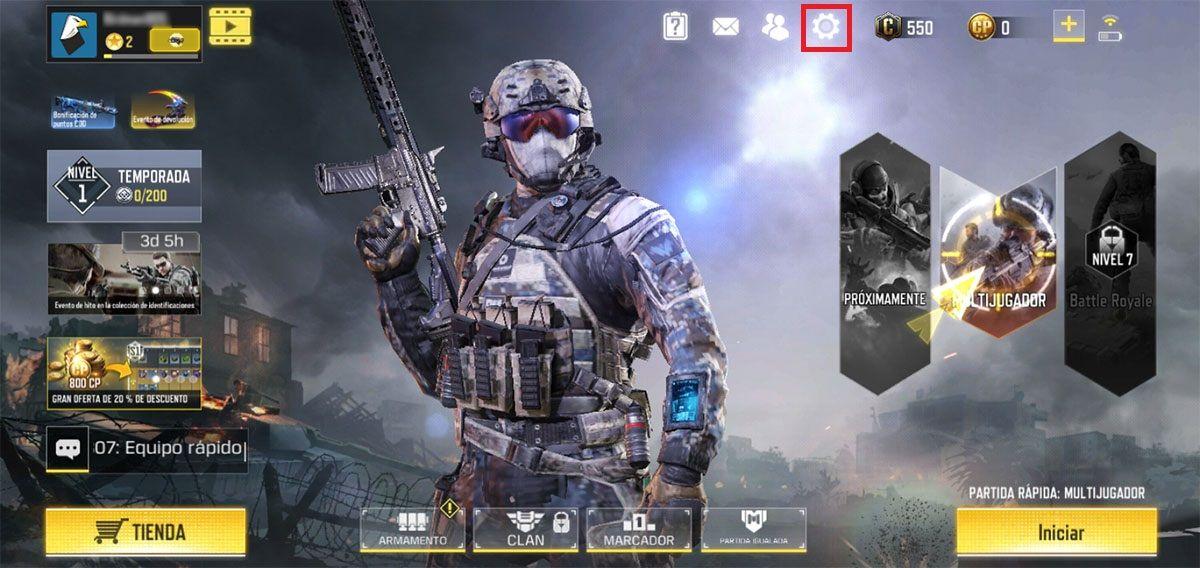 Bajar graficos Call of Duty Mobile Paso 1
