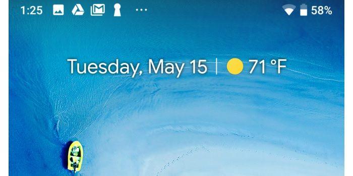 Barra de notificaciones Android Pie