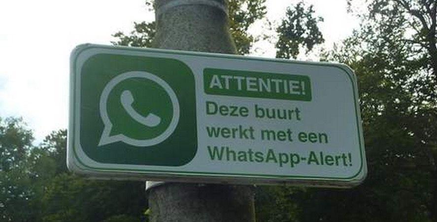 Barrios vigilados por WhatsApp