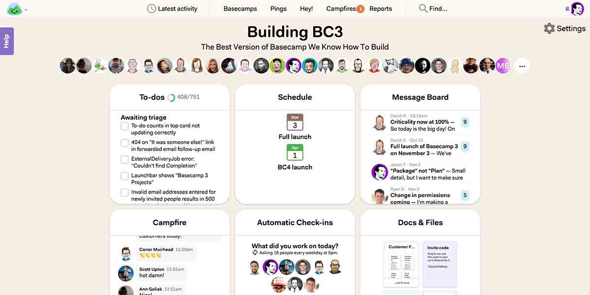 Basecamp 3 app alternativa a Trello