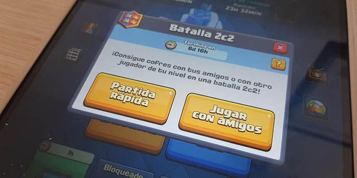 Batalla 2c2 Clash Royale