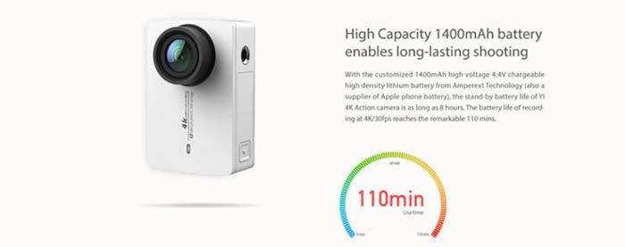 Bateria Yi 4K Action Camera