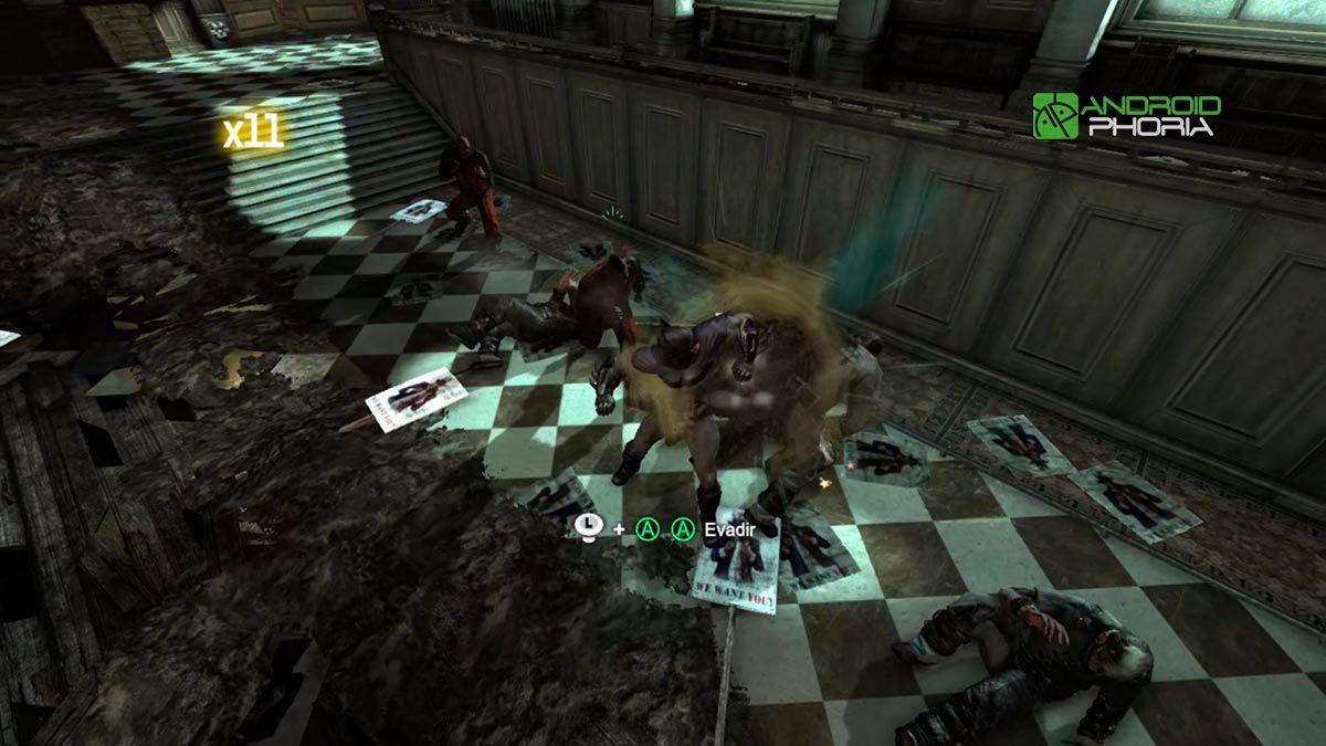 Batman luchando en Nvidia Shield TV