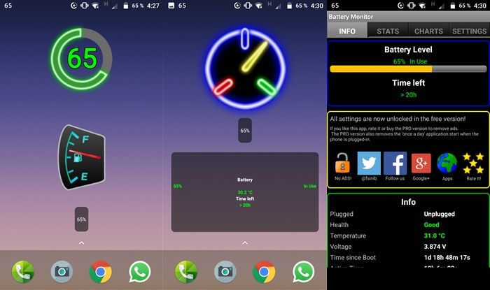 Battery Widget monitor