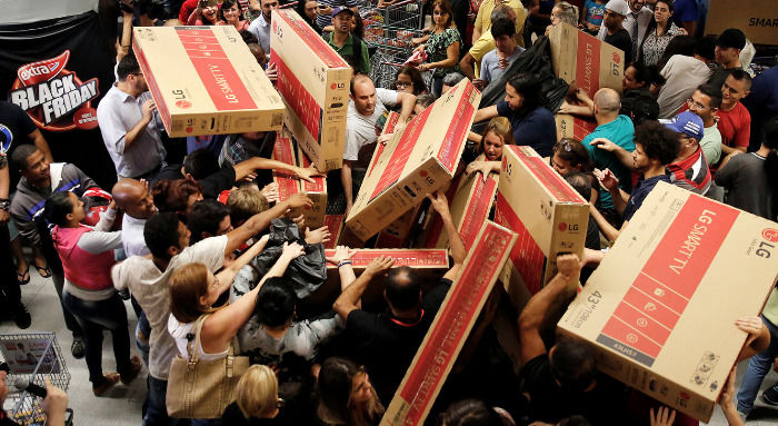 Black Friday locura televisores