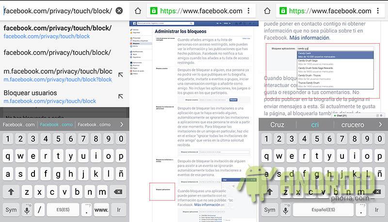 Bloquear aplicacione Facebook Android