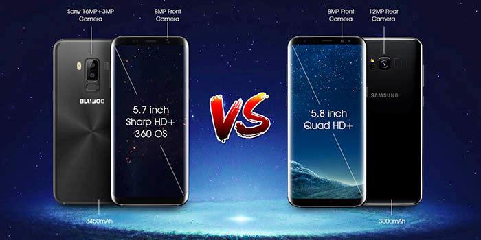 Bluboo S8 vs Galaxy S8