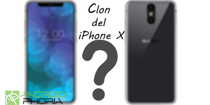 Bluboo X clon del iPhone X