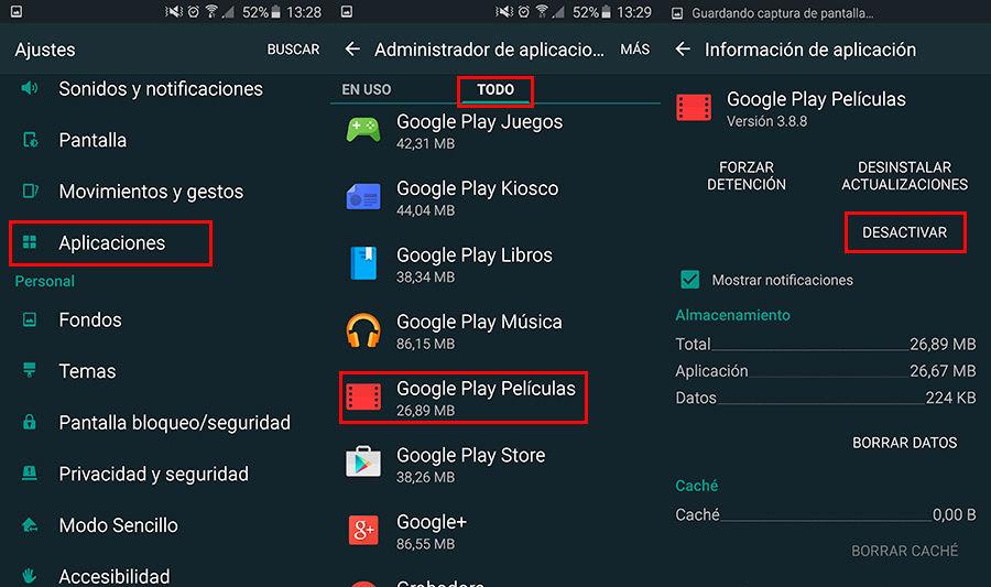 Borrar aplicaciones de fábrica Android sin root