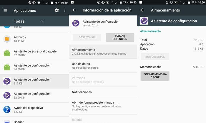 Borrar caché de apps en Android