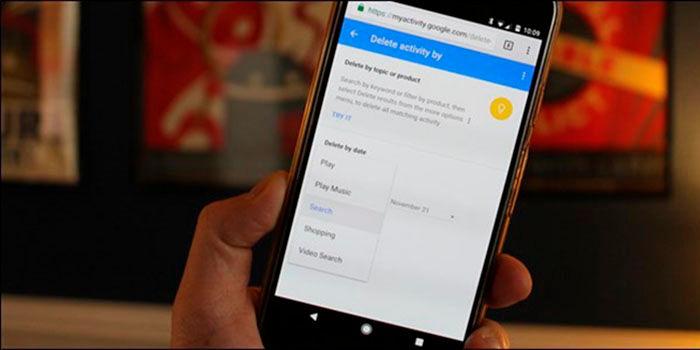 Borrar historial busqueda google android