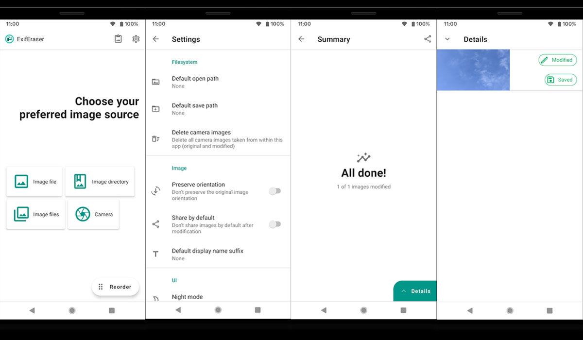 Borrar los datos EXIF desde una aplicación para cualquier Android