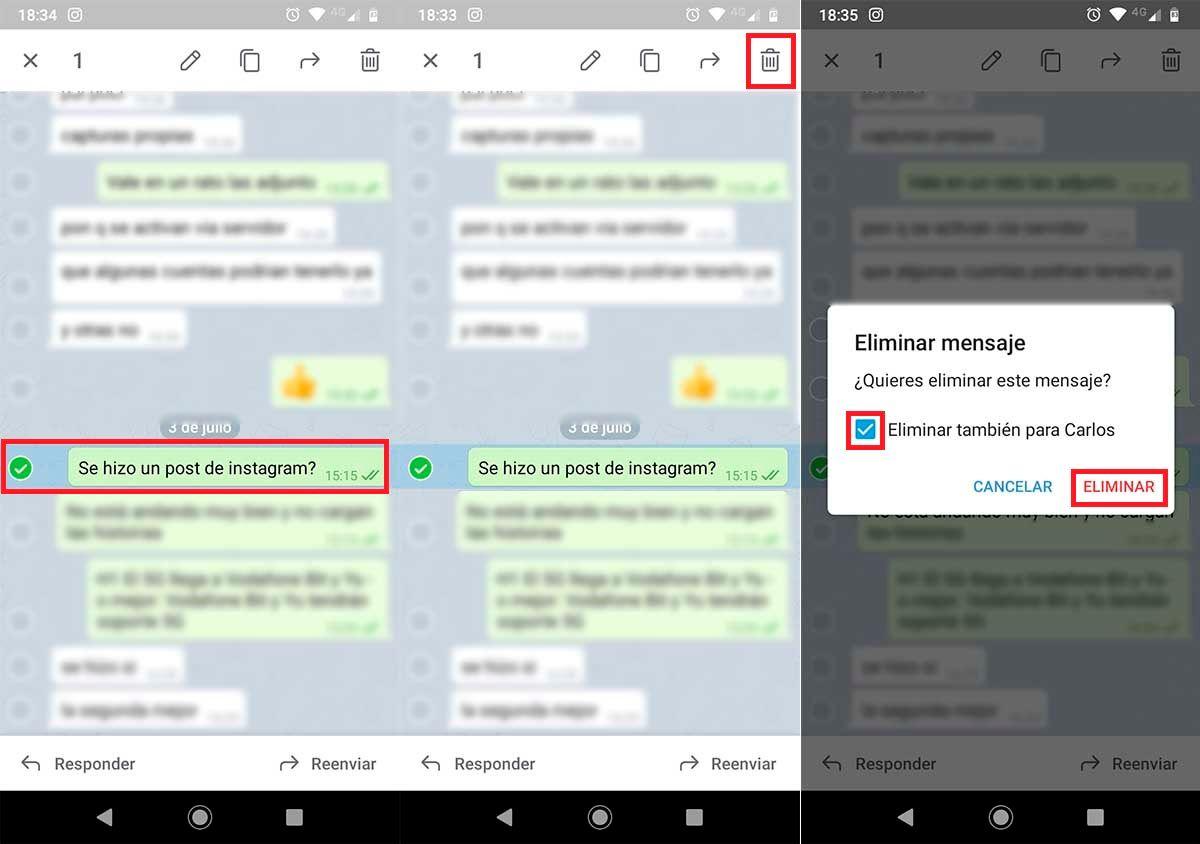 Borrar mensajes para todos Telegram 2