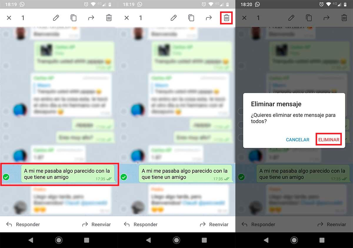 Borrar mensajes para todos Telegram grupos 2