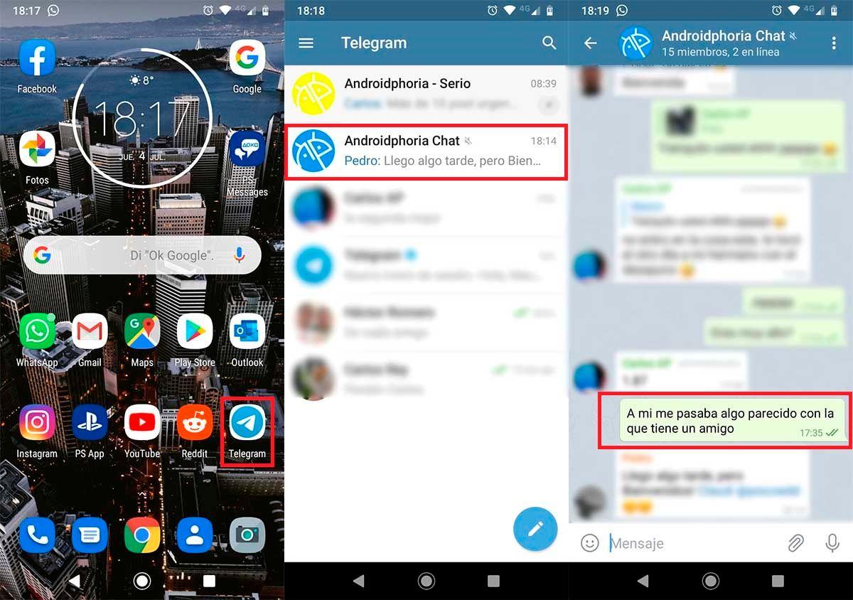 Borrar mensajes para todos Telegram grupos