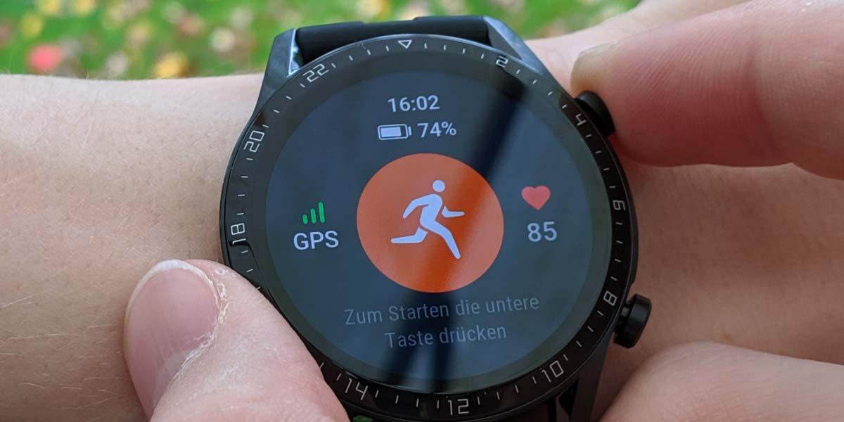 Uso de botón en el Huawei Watch GT
