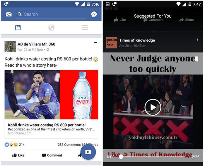 Boton flotante videos Facebook
