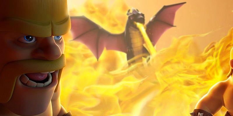 Buen ataque con dragones Clash of Clans