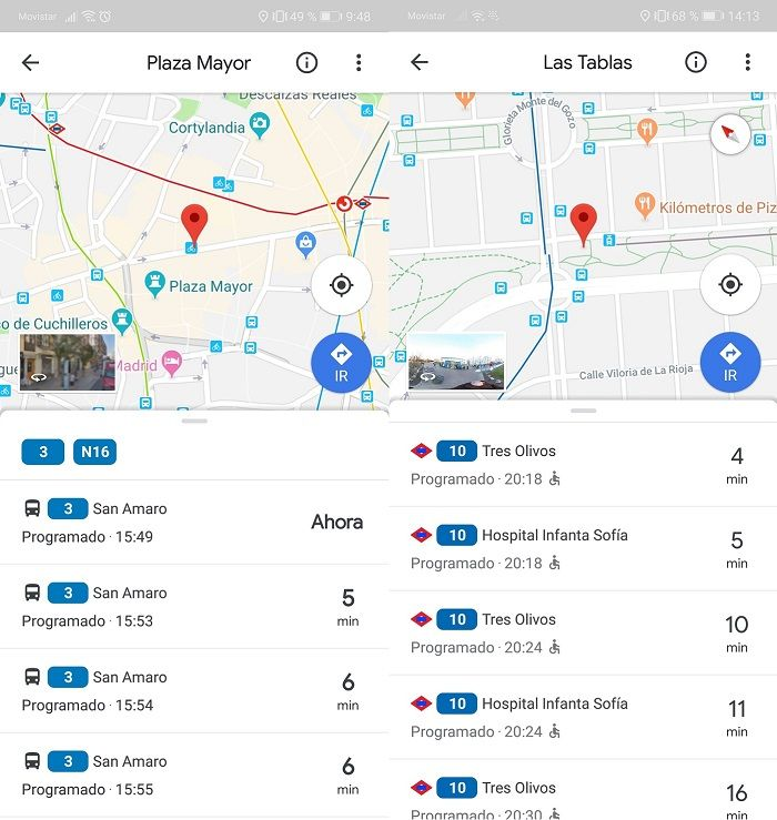 Bus o Metro Google Maps